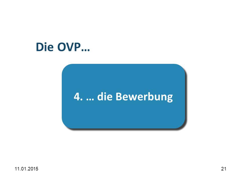 …die Prüfung Die OVP… 4. … die Bewerbung 08.04.2017 21