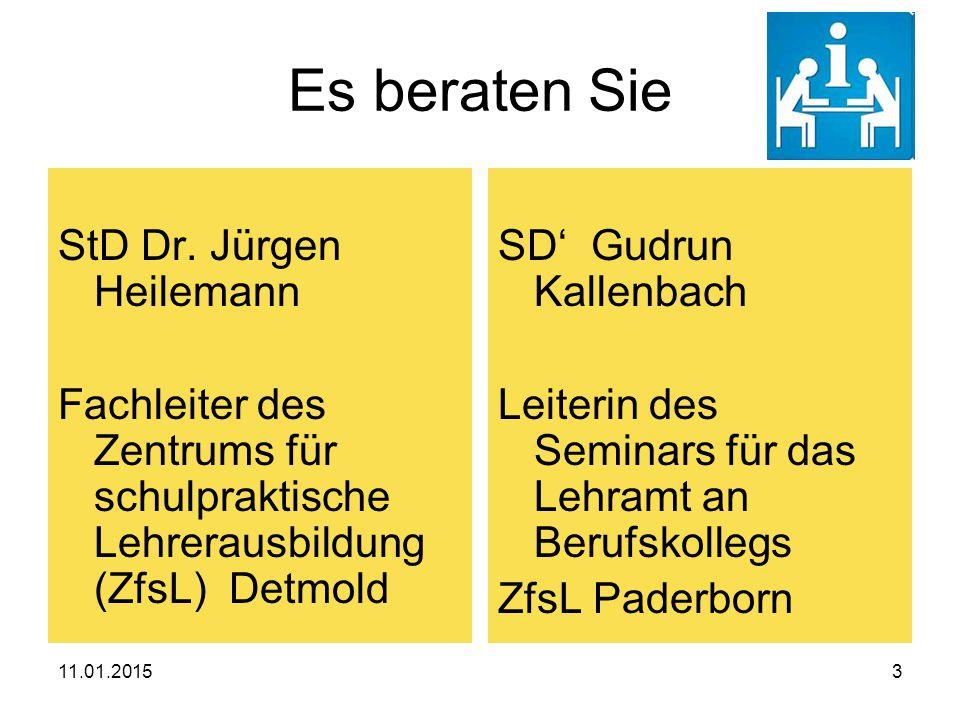 Es beraten Sie StD Dr. Jürgen Heilemann