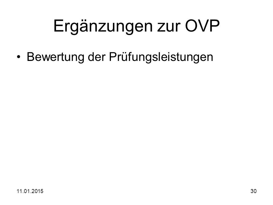Ergänzungen zur OVP Bewertung der Prüfungsleistungen 08.04.2017