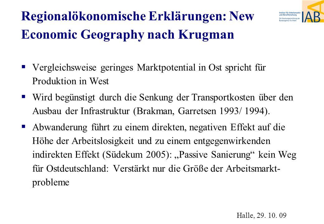 Regionalökonomische Erklärungen: New Economic Geography nach Krugman