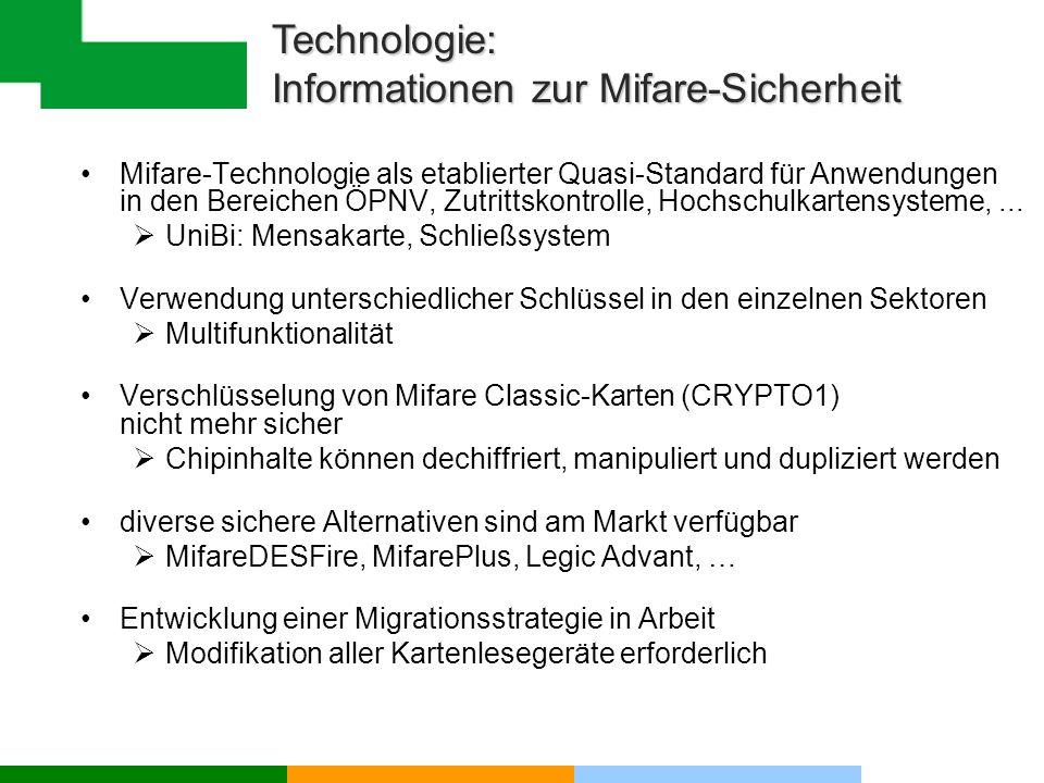 Technologie: Informationen zur Mifare-Sicherheit