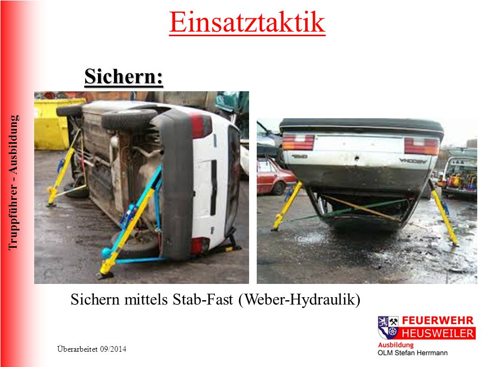 Einsatztaktik Sichern: Sichern mittels Stab-Fast (Weber-Hydraulik)