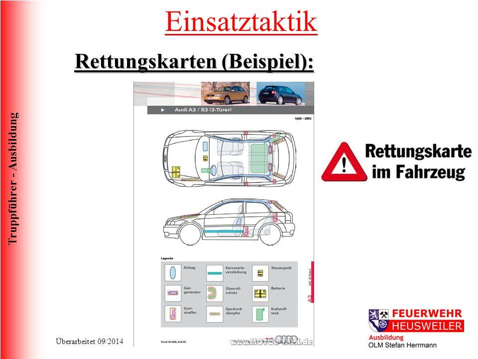 Einsatztaktik Rettungskarten (Beispiel):