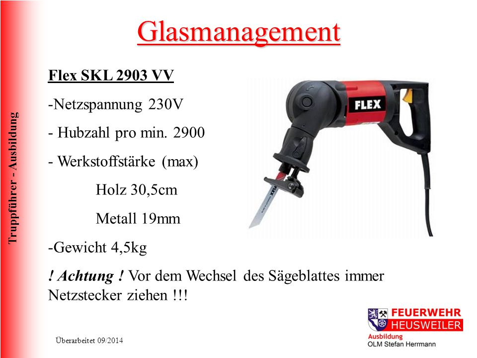 Glasmanagement Flex SKL 2903 VV Netzspannung 230V