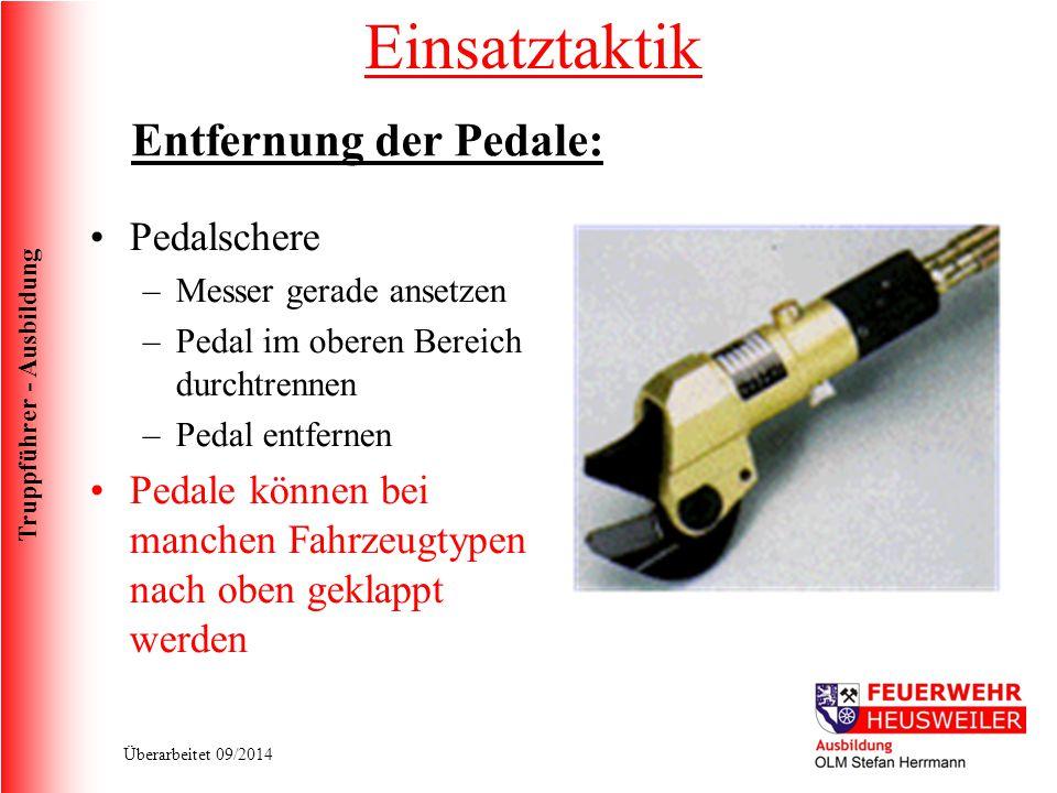 Einsatztaktik Entfernung der Pedale: Pedalschere