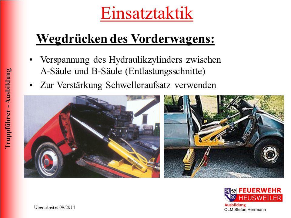 Einsatztaktik Wegdrücken des Vorderwagens: