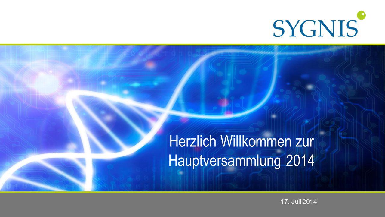 Herzlich Willkommen zur Hauptversammlung 2014