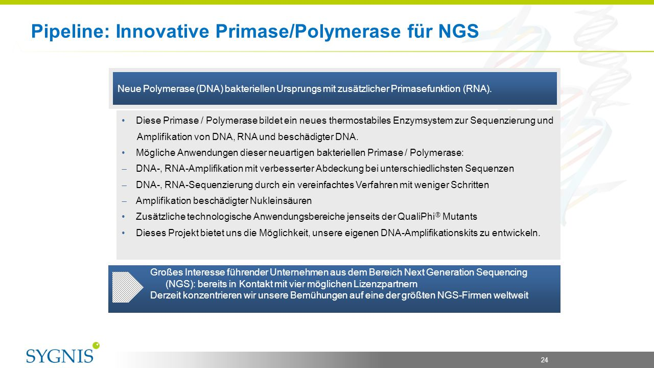 Pipeline: Innovative Primase/Polymerase für NGS