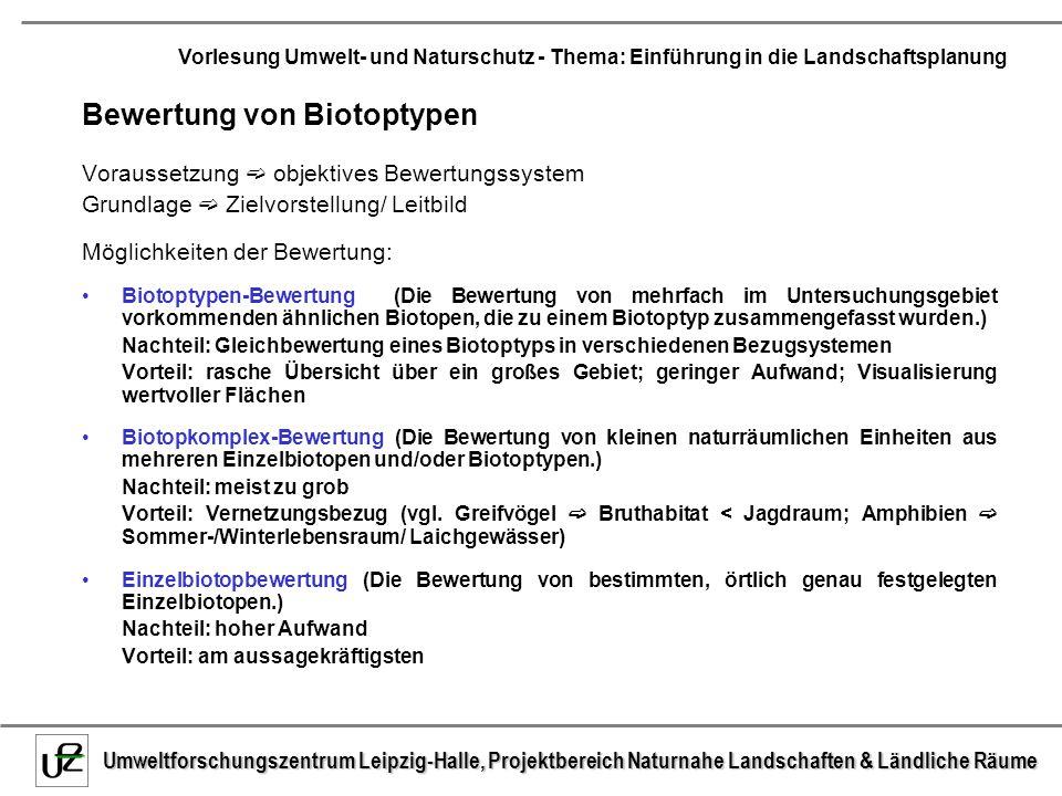 Bewertung von Biotoptypen