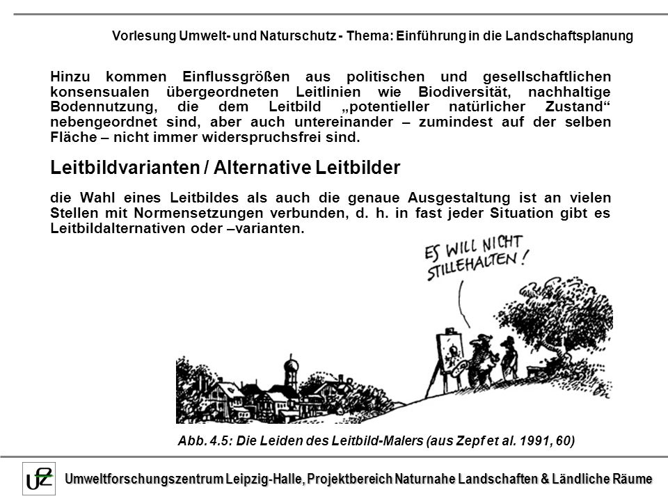 Leitbildvarianten / Alternative Leitbilder