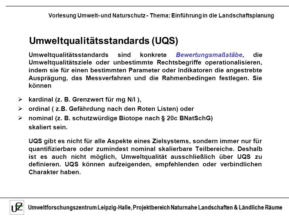 Umweltqualitätsstandards (UQS)