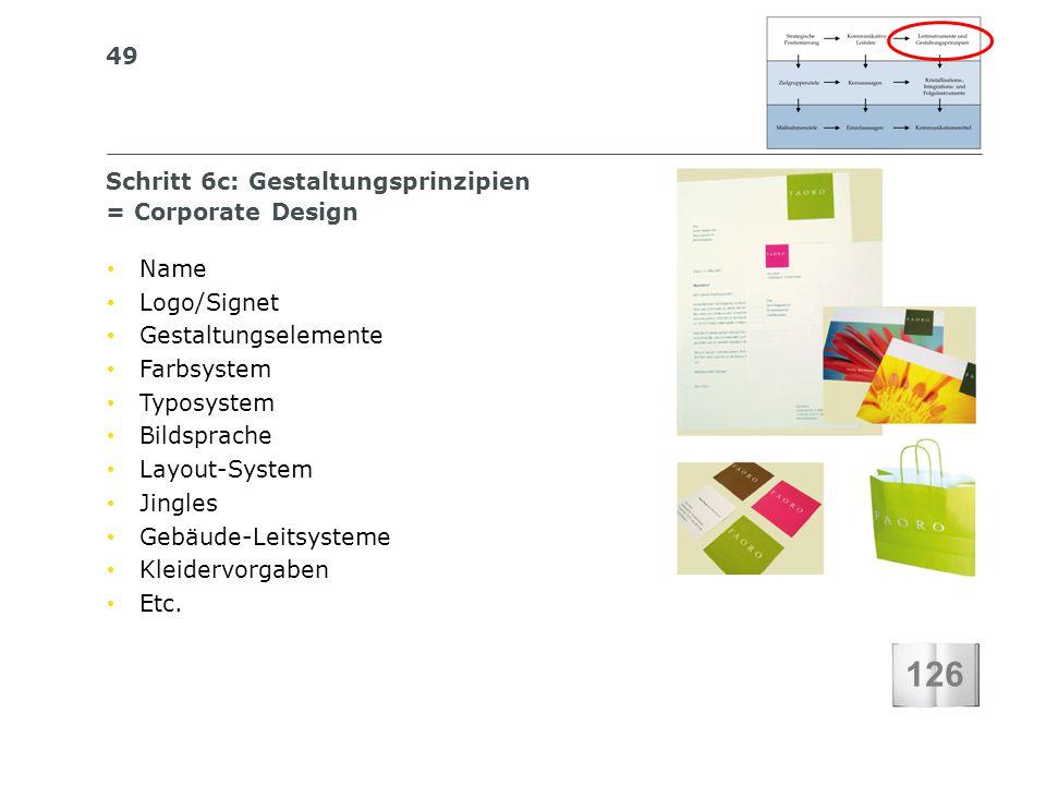 126 Schritt 6c: Gestaltungsprinzipien = Corporate Design Name