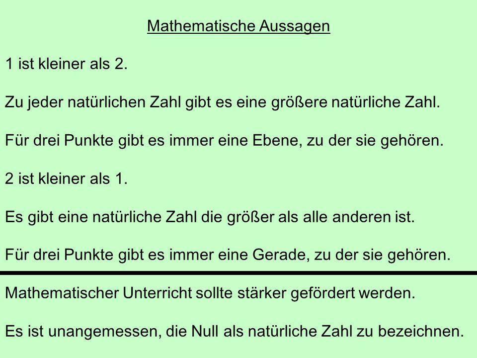 Mathematische Aussagen