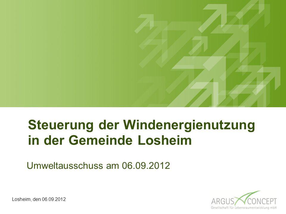 Steuerung der Windenergienutzung in der Gemeinde Losheim