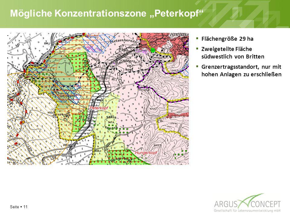 """Mögliche Konzentrationszone """"Peterkopf"""