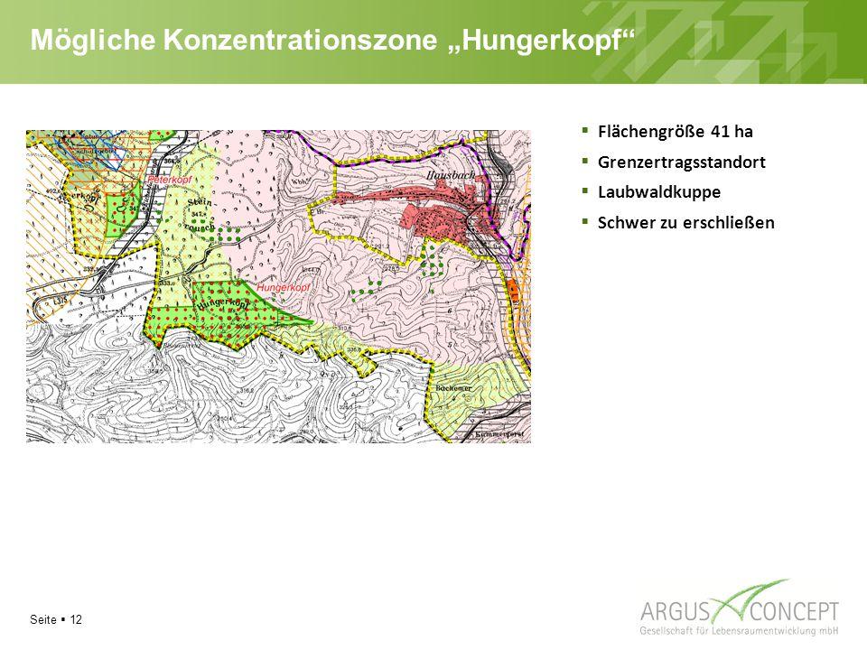 """Mögliche Konzentrationszone """"Hungerkopf"""
