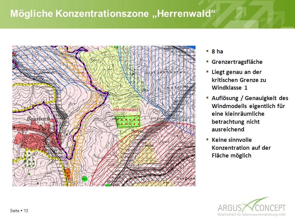 """Mögliche Konzentrationszone """"Herrenwald"""