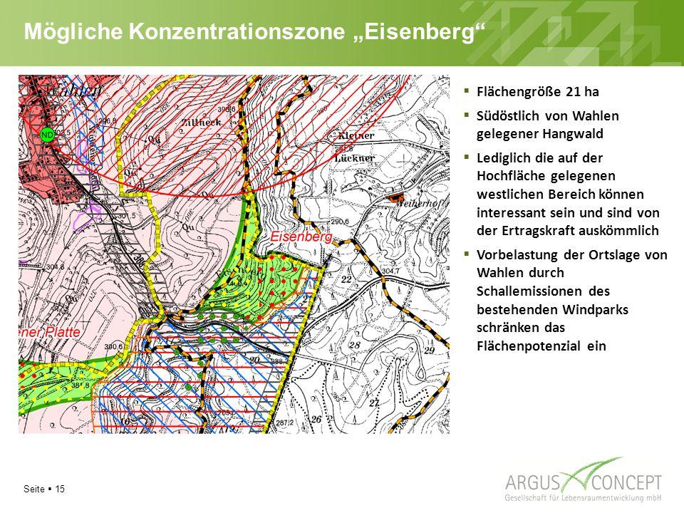 """Mögliche Konzentrationszone """"Eisenberg"""