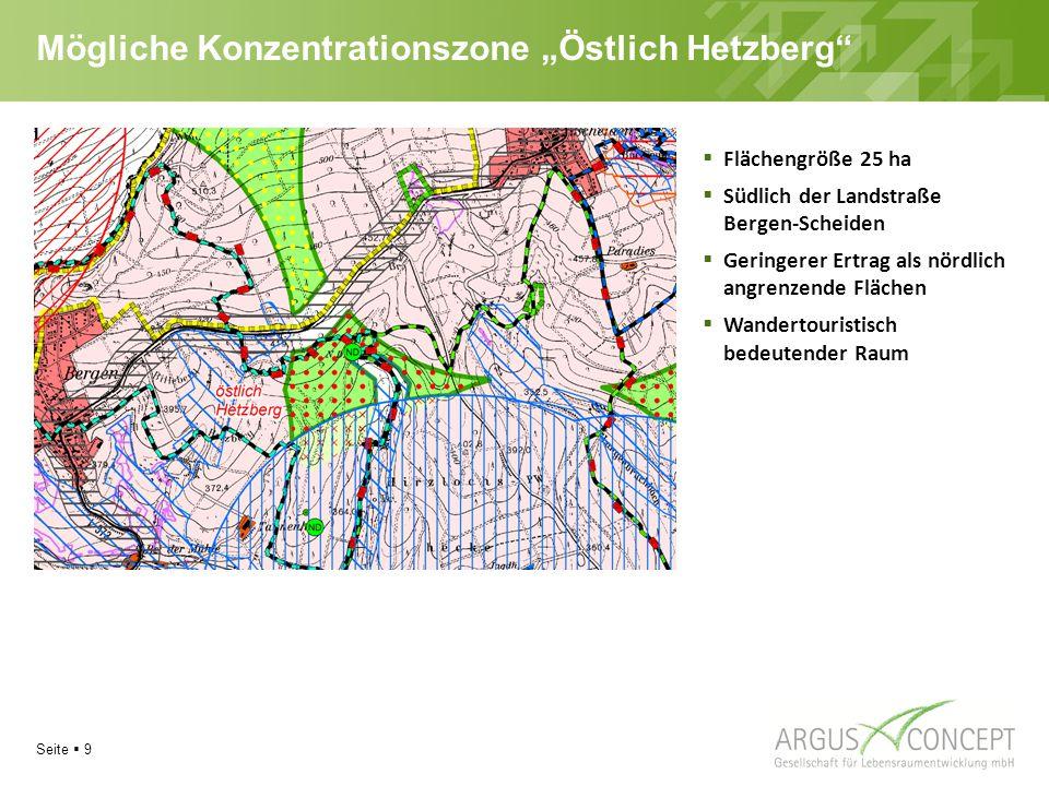 """Mögliche Konzentrationszone """"Östlich Hetzberg"""
