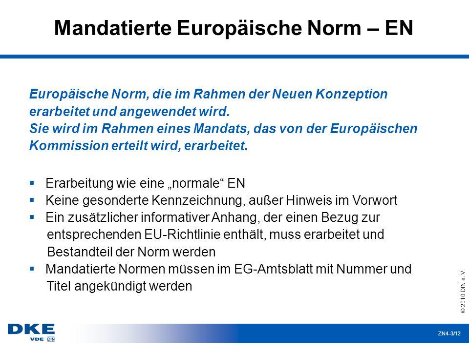 Mandatierte Europäische Norm – EN