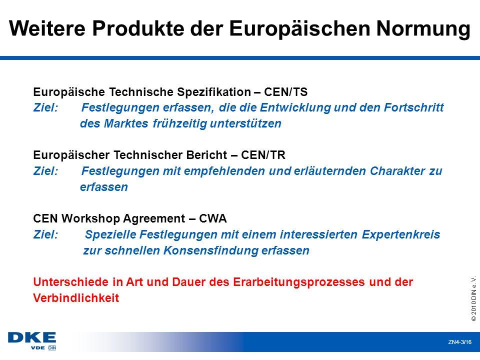 Weitere Produkte der Europäischen Normung