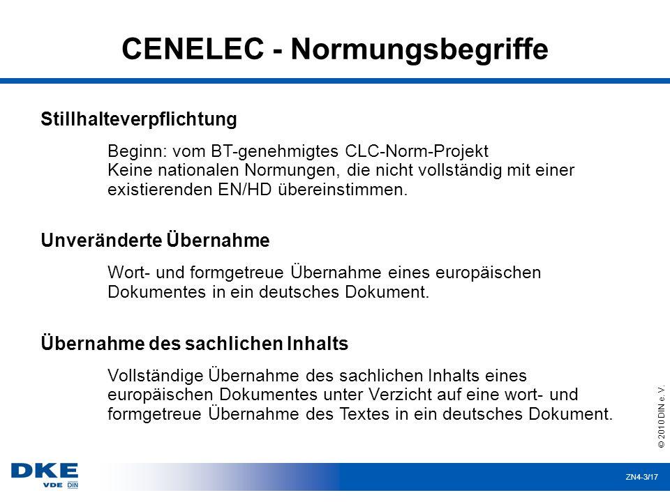 CENELEC - Normungsbegriffe