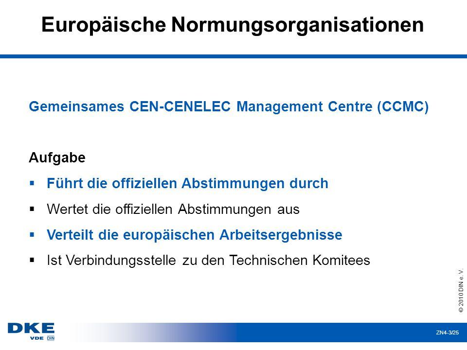 Europäische Normungsorganisationen