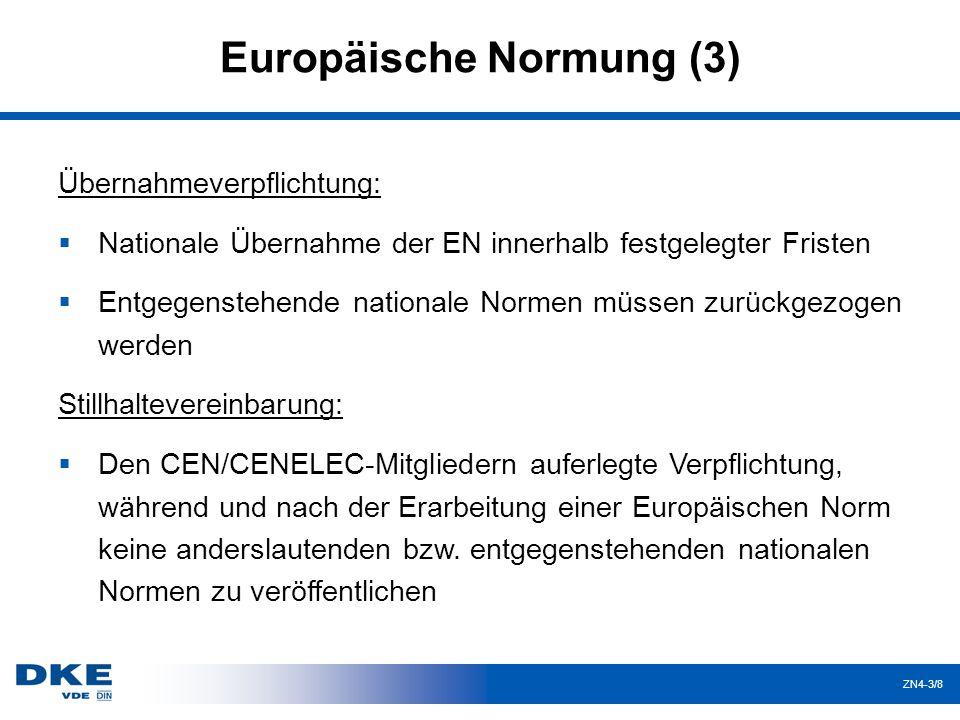 Europäische Normung (3)
