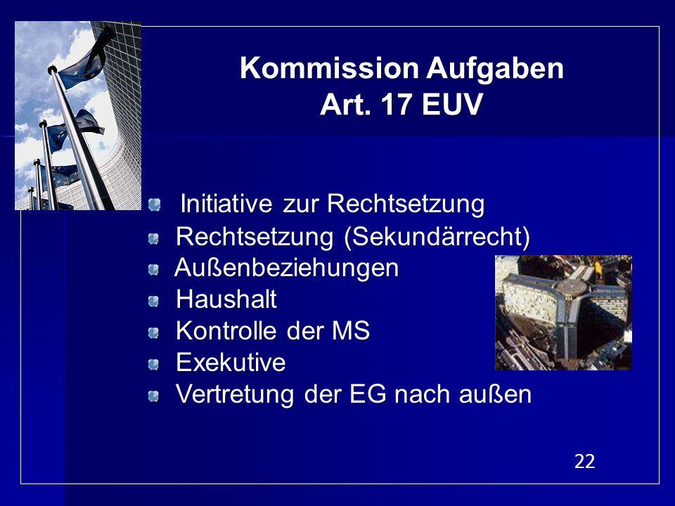 Kommission Aufgaben Art. 17 EUV