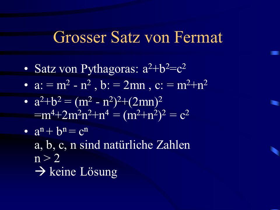 Grosser Satz von Fermat