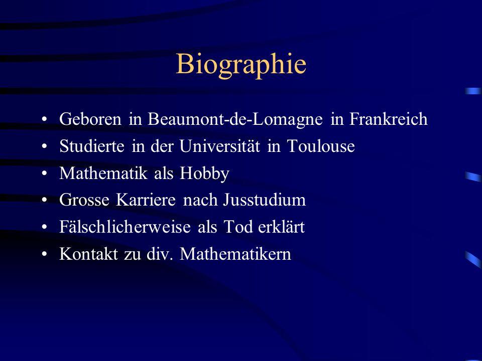 Biographie Geboren in Beaumont-de-Lomagne in Frankreich