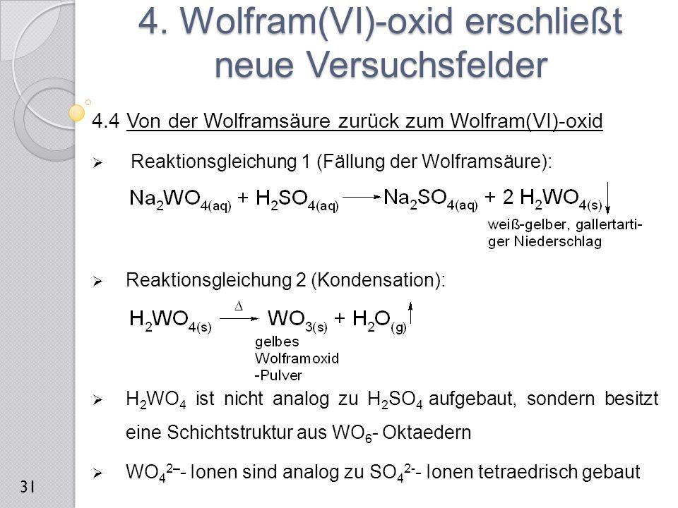 4. Wolfram(VI)-oxid erschließt neue Versuchsfelder