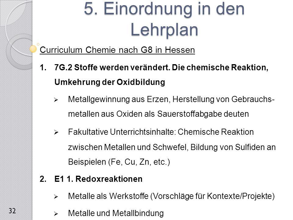 5. Einordnung in den Lehrplan