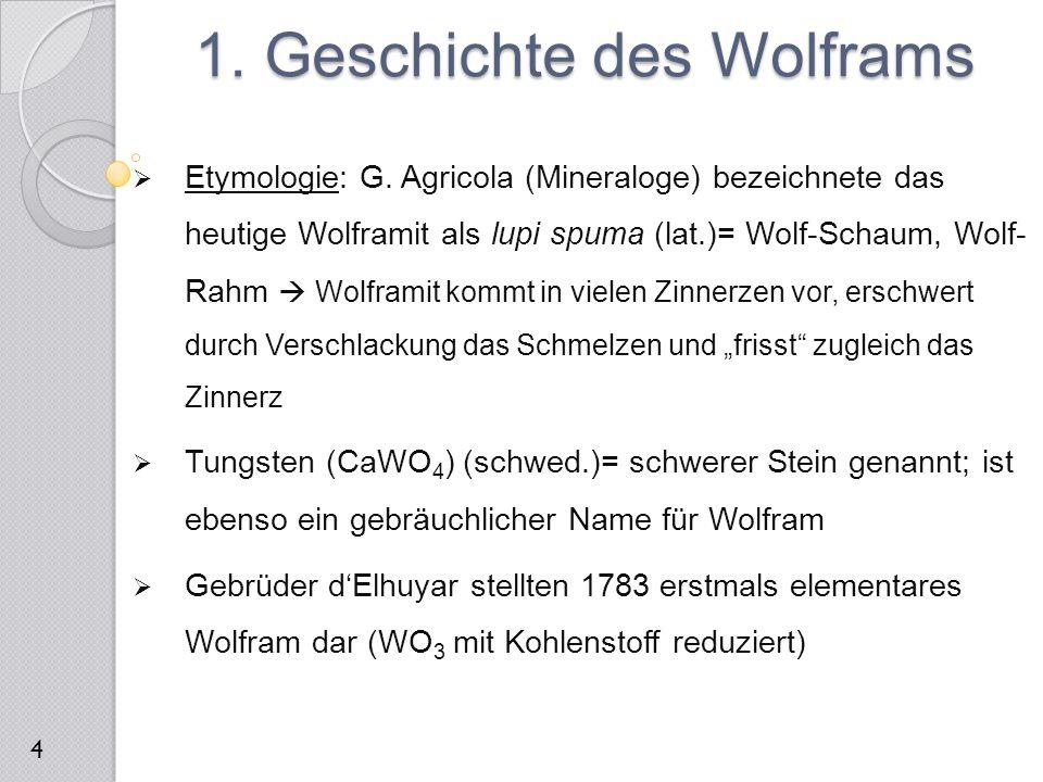 1. Geschichte des Wolframs