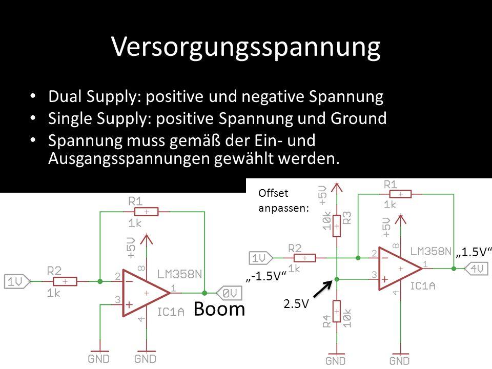 Versorgungsspannung Boom Dual Supply: positive und negative Spannung