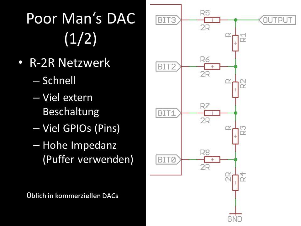 Poor Man's DAC (1/2) R-2R Netzwerk Schnell Viel extern Beschaltung