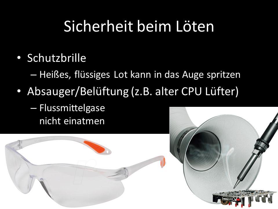 Sicherheit beim Löten Schutzbrille