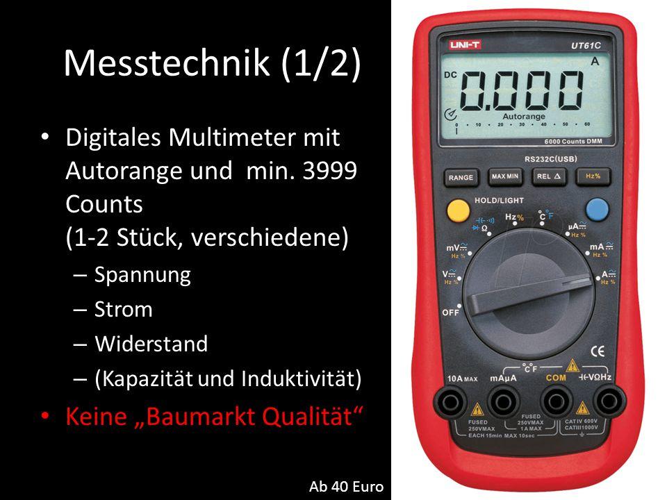 Messtechnik (1/2) Digitales Multimeter mit Autorange und min. 3999 Counts (1-2 Stück, verschiedene)