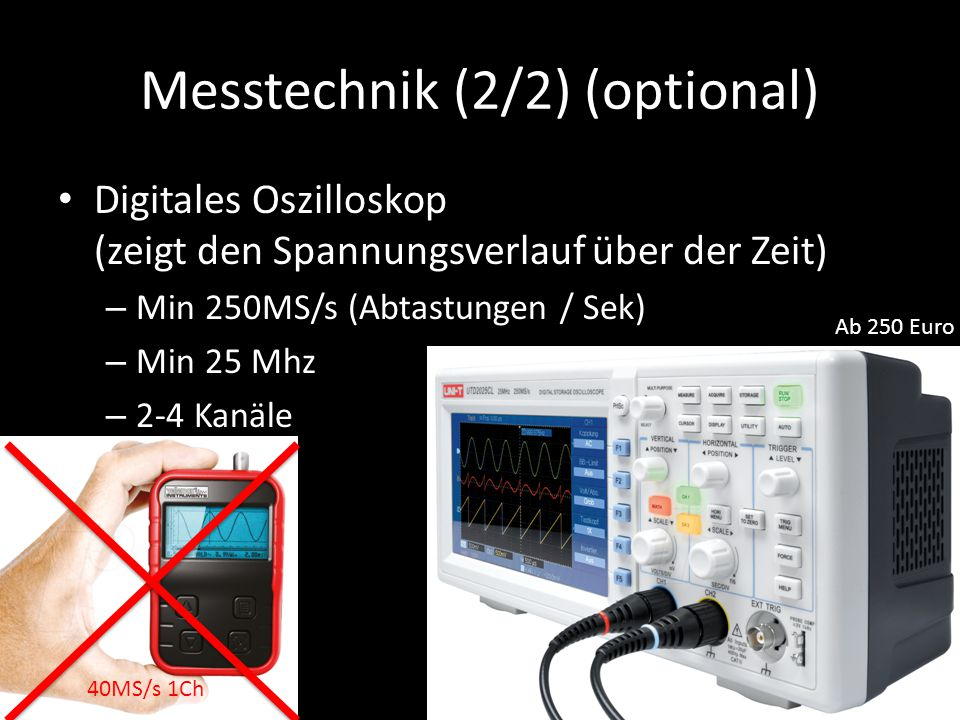 Messtechnik (2/2) (optional)