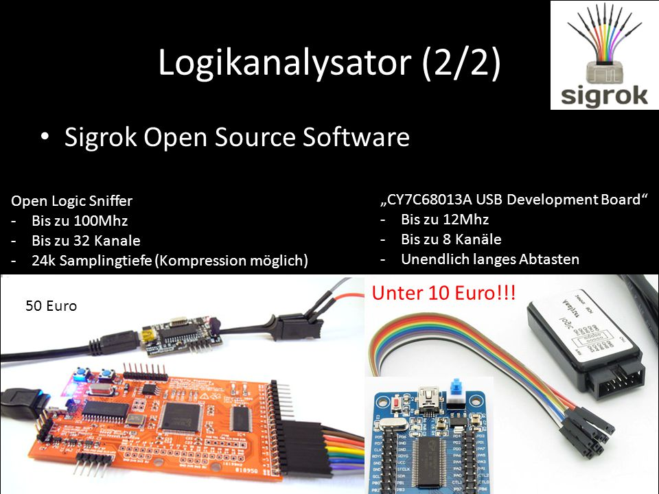 Logikanalysator (2/2) Sigrok Open Source Software Unter 10 Euro!!!