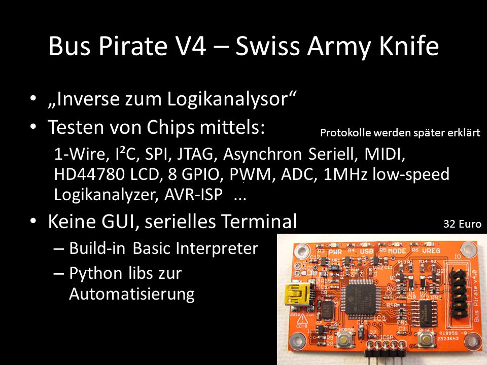 Bus Pirate V4 – Swiss Army Knife