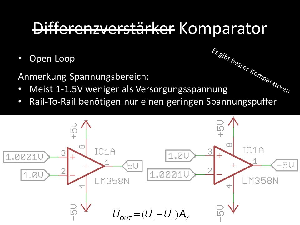 Differenzverstärker Komparator