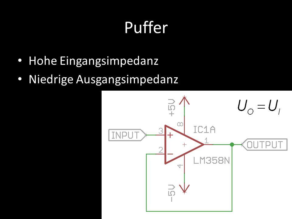 Puffer Hohe Eingangsimpedanz Niedrige Ausgangsimpedanz