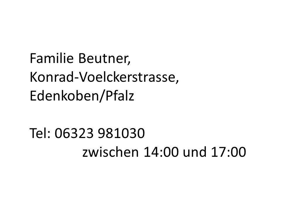 Familie Beutner, Konrad-Voelckerstrasse, Edenkoben/Pfalz.