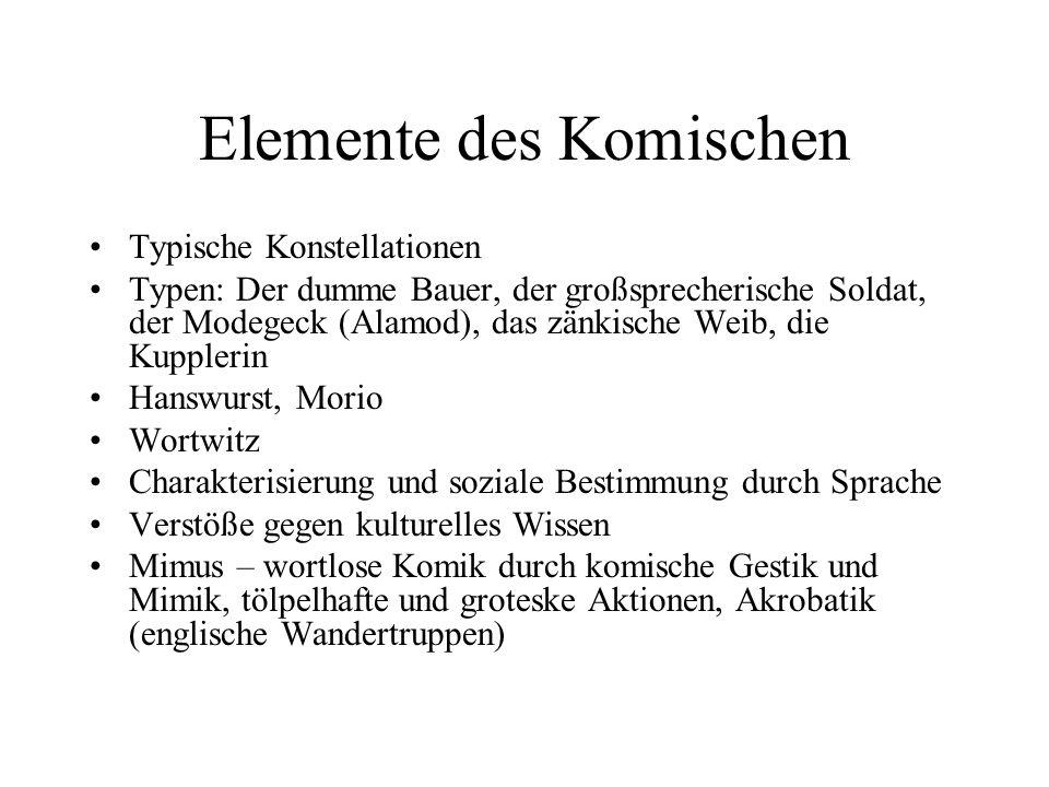 Elemente des Komischen