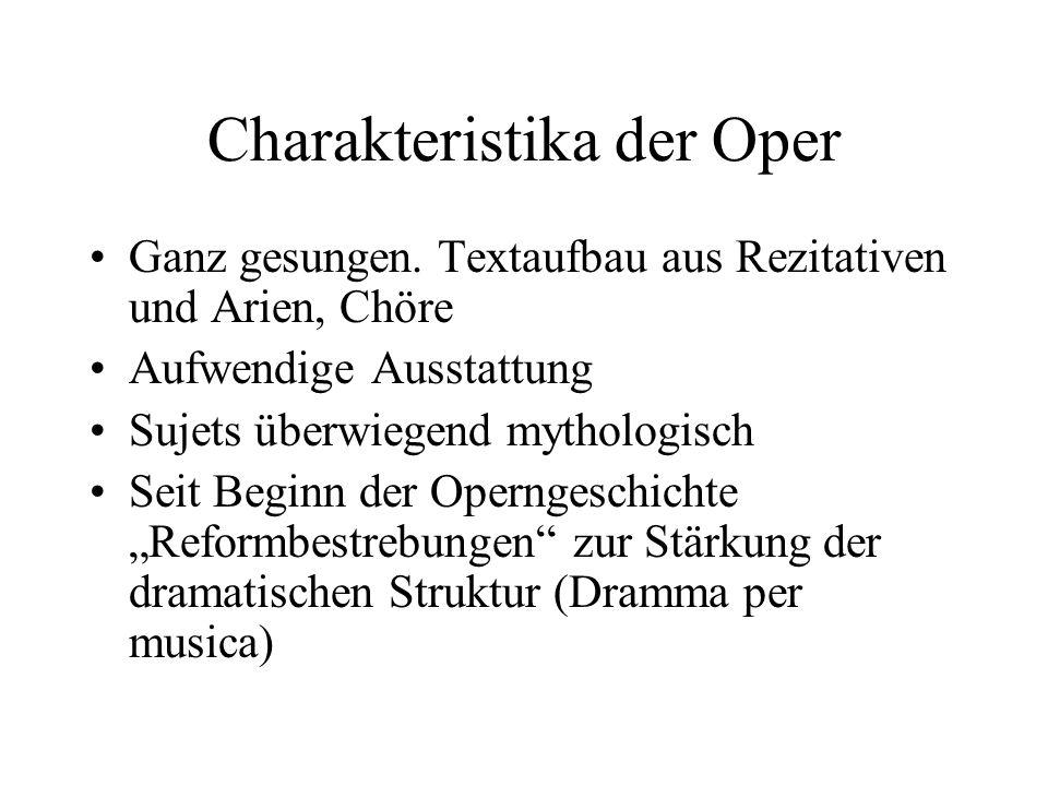 Charakteristika der Oper