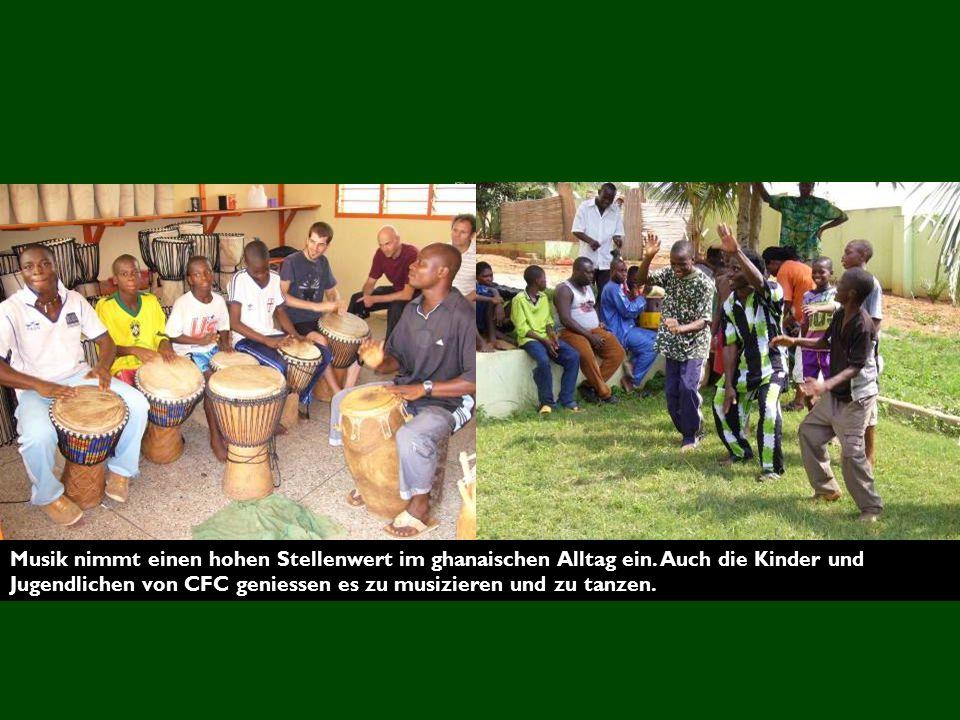 Musik nimmt einen hohen Stellenwert im ghanaischen Alltag ein
