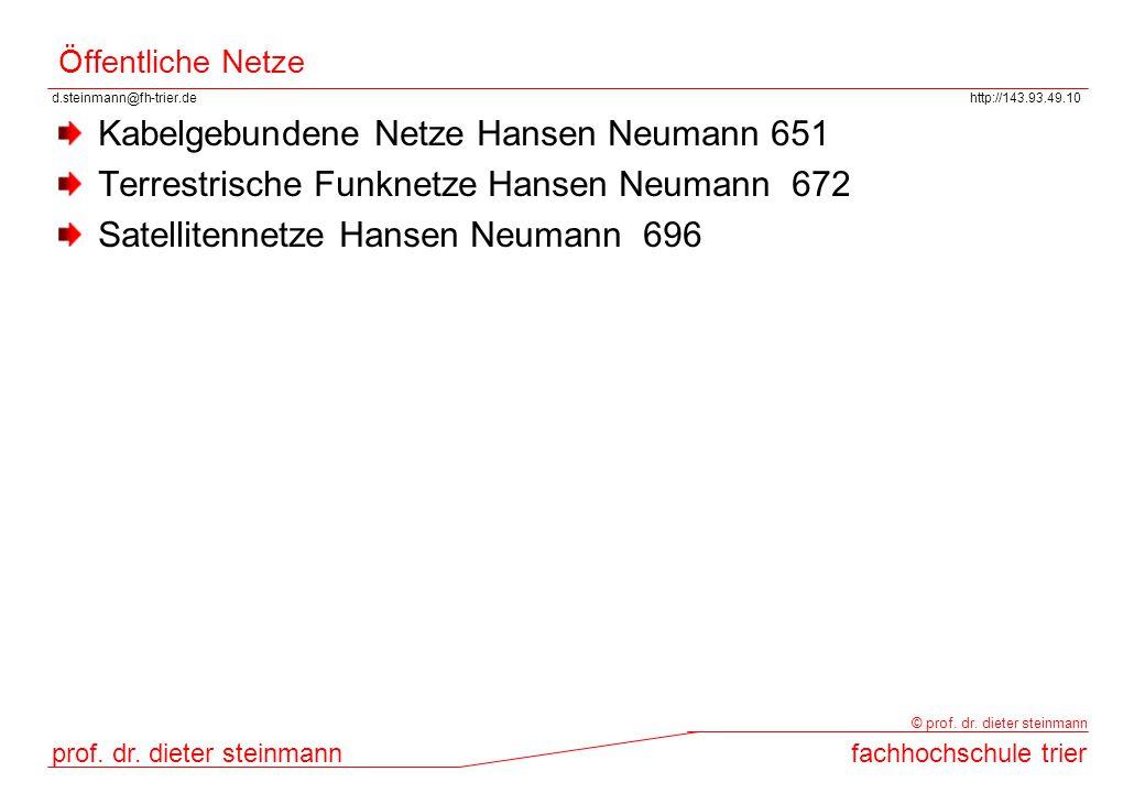 Kabelgebundene Netze Hansen Neumann 651