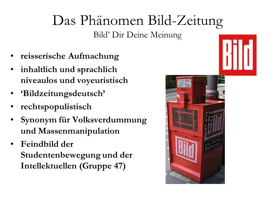 deutsche presselandschaft ppt video online herunterladen. Black Bedroom Furniture Sets. Home Design Ideas