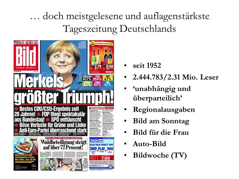 … doch meistgelesene und auflagenstärkste Tageszeitung Deutschlands